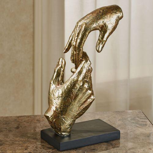 Loving Hands Table Sculpture Gold