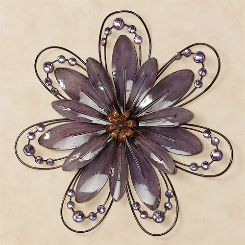 Floral Gem Purple Wall AccentPurple