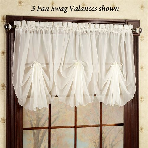Emelia Sheer Fan Swag Valance 30 x 40