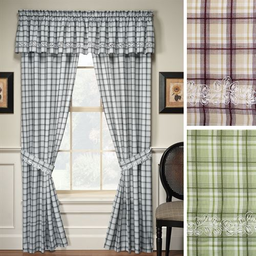 Dover Tailored Curtain Pair