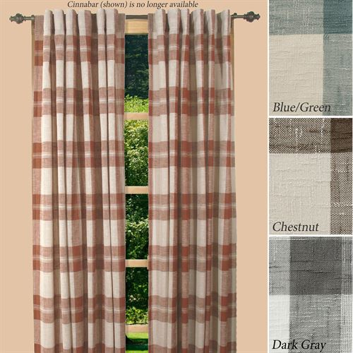 Shannon Plaid Curtain Panel