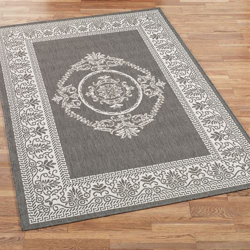 Antique Medallion Indoor Outdoor Area Rugs