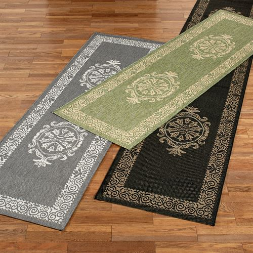Antique Medallion Indoor Outdoor Rug Runner