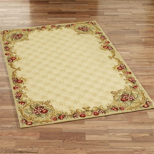 Wine and Roses Rectangle Rug