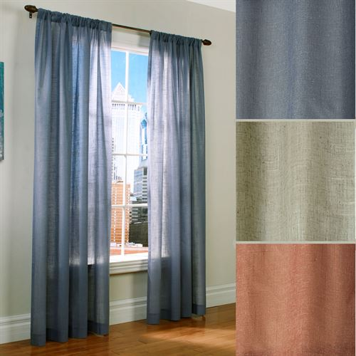 Weathervane Thermasheer(TM) Curtain Panel Linen