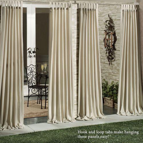 Matine Indoor Outdoor Tab Top Curtain Panels