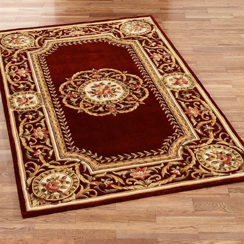 Elegant Medallion Wool Area Rugs