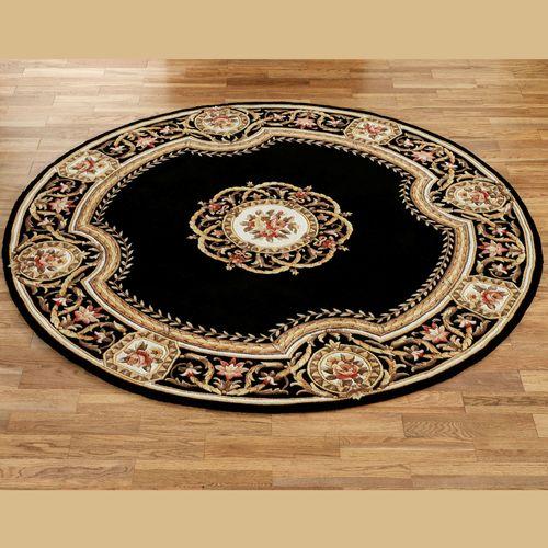 Elegant Medallion Round Wool Area Rugs