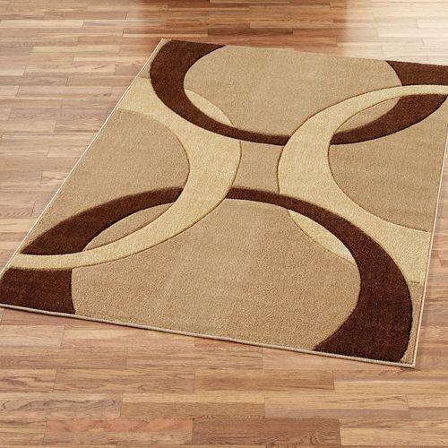 Corfu Contemporary Rectangle Rug Brown