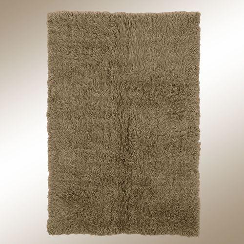 Khaki Flokati Rectangle Rug