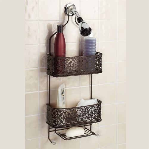 Plated Steel Lace Hanging Shower Caddy