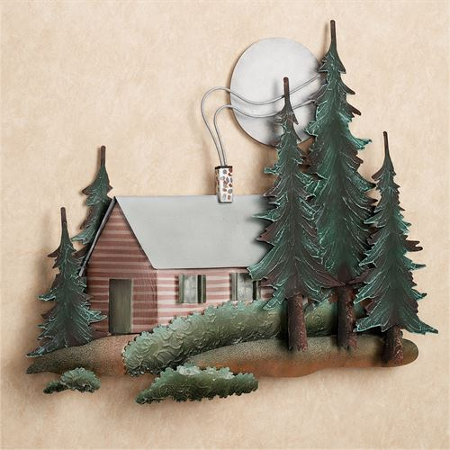 Cabin in the Woods Wall Art Multi Earth