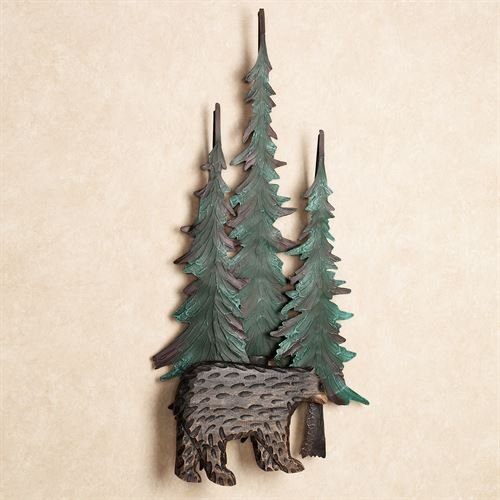 Black Bear in Pines Wall Art