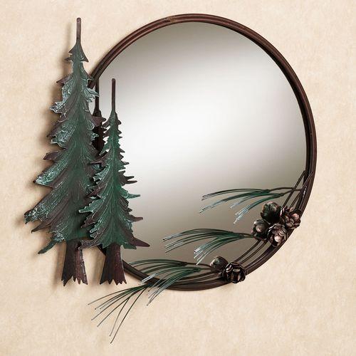 Pine Tree Wall Mirror Brown