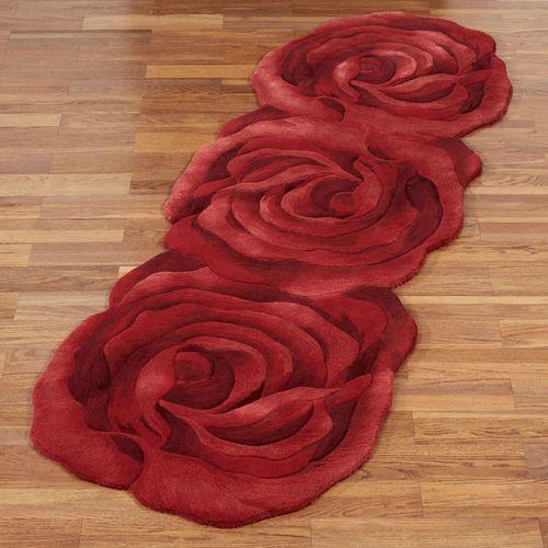 Raelyn Bloom Rose Rug Runner Red