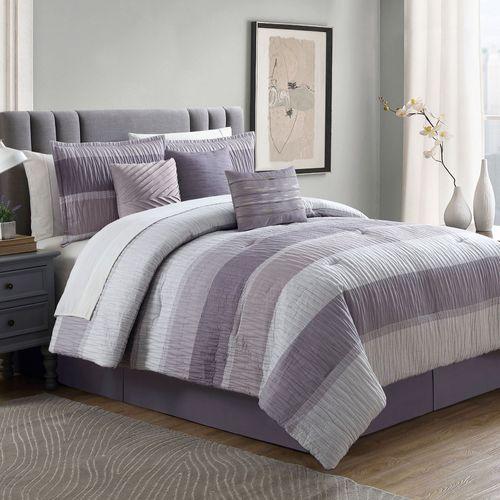 York Comforter Bed Set Wisteria