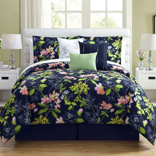Augustine Comforter Bed Set Midnight