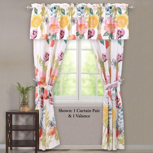 Watercolor Dream Tailored Curtain Pair Multi Cool 84 x 84