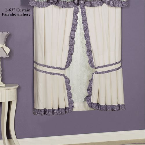 Serenade Ruffled Curtain Pair Wisteria 84 x 84
