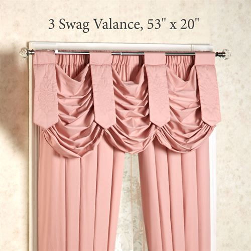 Evermore Swag Valance Coral Blush