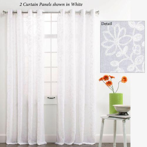 Darcey Semi Sheer Grommet Curtain Panel 55 x 84