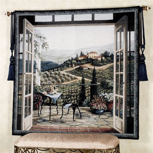 Balcony View of the Villa Wall Tapestry