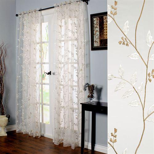 Venice Sheer Curtain Panel Eggshell