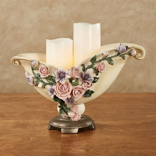 Summer Florals Decorative Centerpiece Bowl Multi Pastel