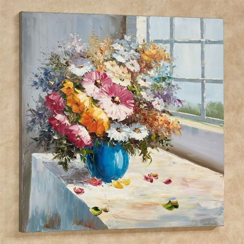 Floral View Canvas Wall Art Multi Bright