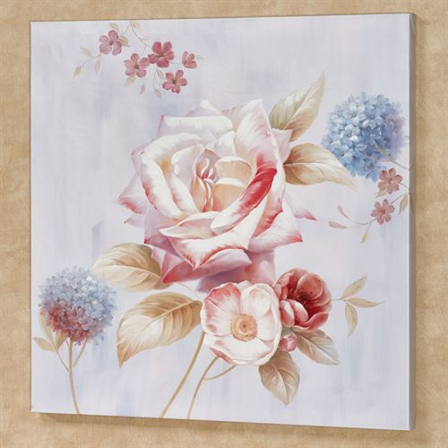 Delicate Rose II Canvas Wall Art Multi Pastel