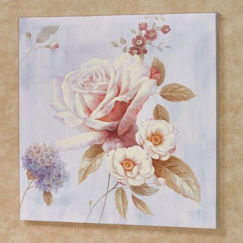 Delicate Rose I Canvas Wall Art Multi Pastel