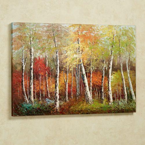 Brilliant Autumn Canvas Wall Art Multi Warm