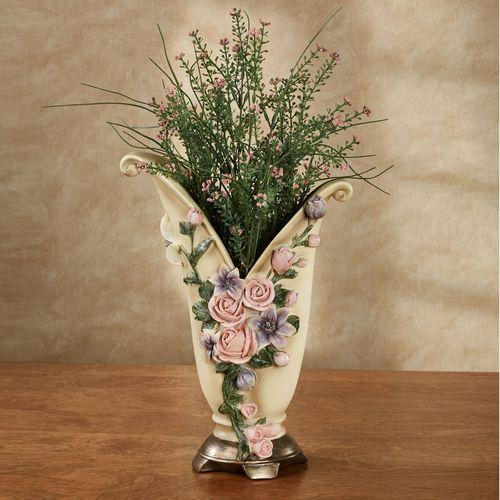 Summer Florals Decorative Table Vase Multi Pastel