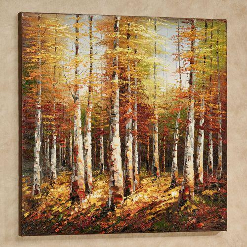 Burst of Autumn Canvas Wall Art Multi Warm