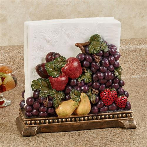 Tuscan Fruit Napkin Holder Multi Jewel