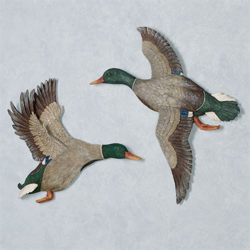Magnificent Mallard Duck Wall Art Multi Warm Set of Two