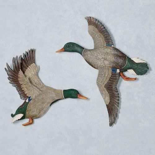 Magnificent Mallard Duck Wall Art Multi Warm Set of Two