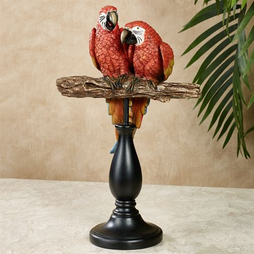 Parrot Gathering Table Sculpture Red