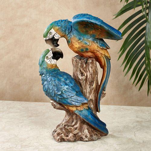 Parrot Lovebirds Table Sculpture Blue