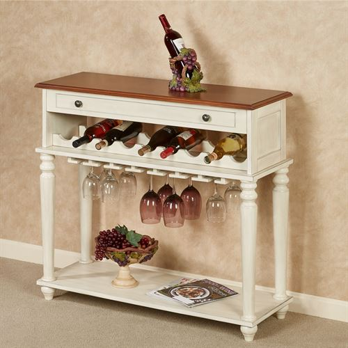 Gainesville Wine Storage Table Ivory