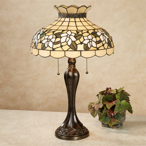 Maylea Magnolia Table Lamp Ivory Each with CFL Bulbs