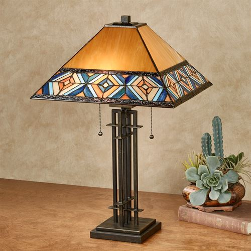 Austin southwest stained glass table lamp austin stained glass table lamp multi earth each with cfl bulbs aloadofball Gallery