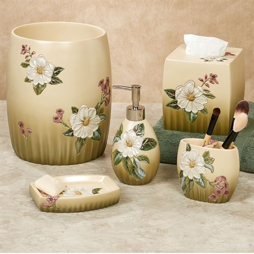 Sweet Magnolia Floral Bath Accessories