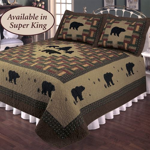 Bear Trail Quilt Multi Warm