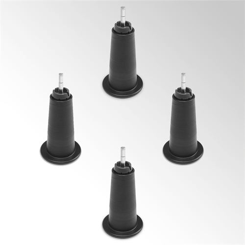 High Profile Bed Risers Black Set of Four