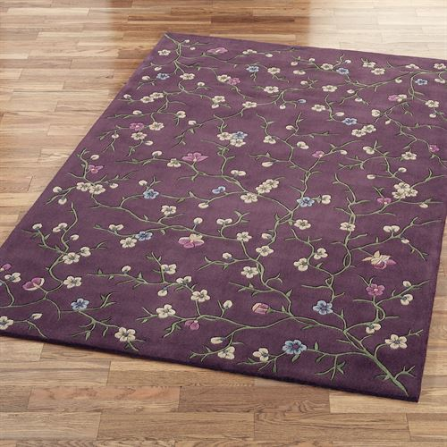 Lavender Reign Rectangle Rug Lavender