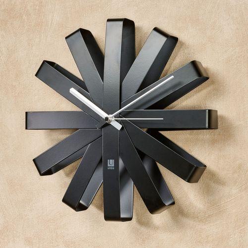 Flex Bent Wall Clock Black