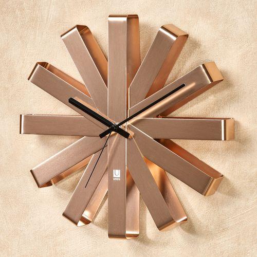 Flex Bent Wall Clock Copper