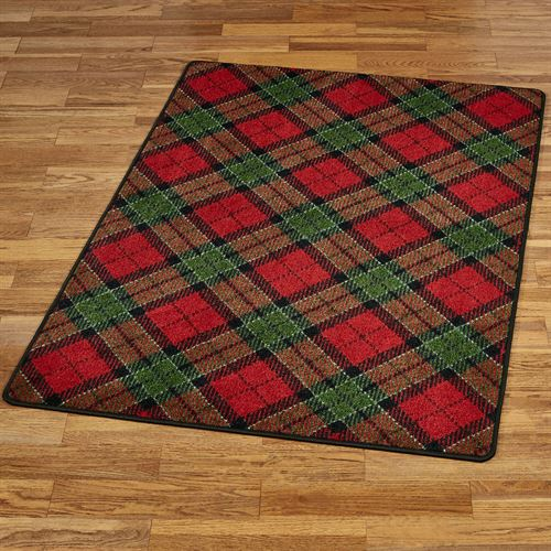 Christmas Plaid Rectangle Rug