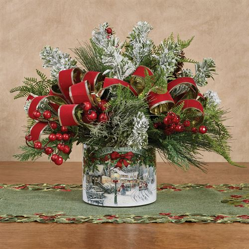 Merry Christmas Centerpiece Red